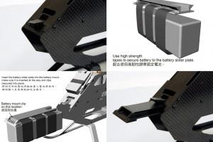 ♦全新設計扳扭式電池滑座,電池安裝固 定不需額外零件,牢靠度與便利性大幅增加。