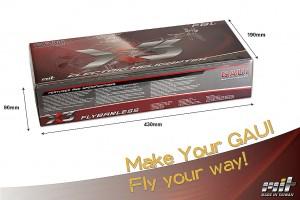 X3 basic Kit空機重: 465g ±3% X3含槳: 530g ±3% 空機含彩盒 810g ±3%