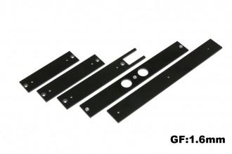 X5 黑玻纖陀螺儀座及電池座及強化板組(1.6mm)