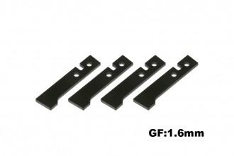 X5 黑玻纖艙罩固定片(4件組)