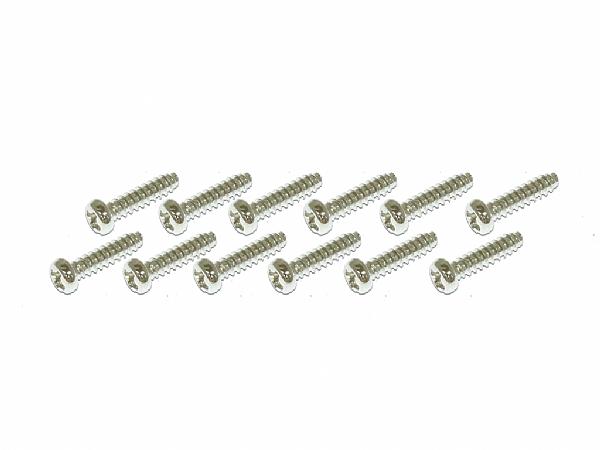十字自攻牙螺絲包-銀色(2x8)x12個