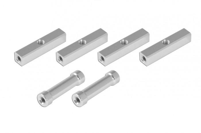 方鋁柱附3mm牙孔及圓鋁柱