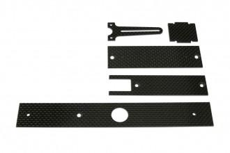 X4 碳纖陀螺儀座及電池座及強化板組
