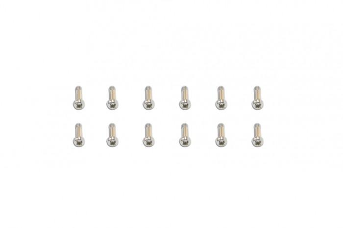 十字機械牙螺絲包-銀色-半牙(2x8)x12個