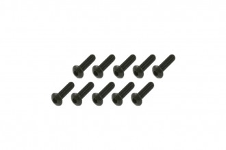 半圓頭內六角螺絲包-黑色(M3x12)x10個