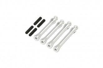 X5 CNC艙罩支柱(電鍍亮銀)(39.5mm)x2 (42.5mm)x2