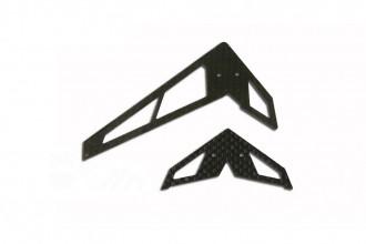 X2 碳纖尾翼組(A型-黑)
