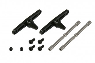 X5 CNC平衡翼控制組(電鍍黑)