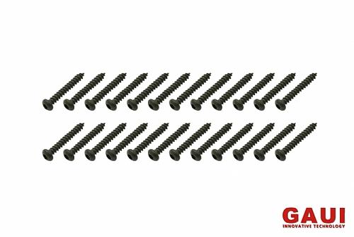 半圓頭內六角自攻牙螺絲包-黑色(2x14)x20個