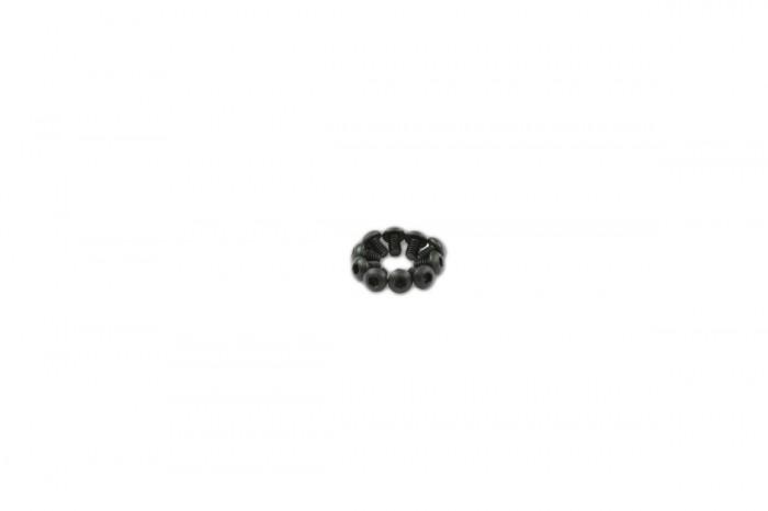 0R2203-半圓頭內六角螺絲包-黑色(M2x3)x10個