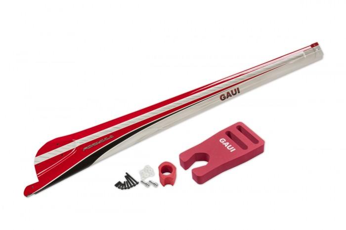077111-FORMULA 碳纖包覆尾殼(B型 紅色)(適用 X7)