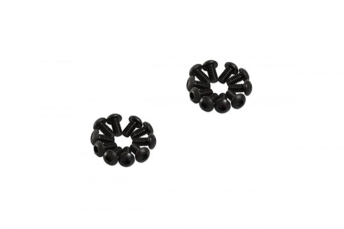 0R2204-半圓頭內六角螺絲包-黑色(M2x4)x20個