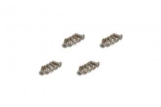 0R5114-十字機械牙螺絲-銀色(M1.4x4)x20個