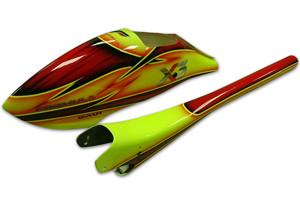 ♦ 新款時尚流線型複合材料彩繪艙罩。