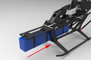 ♦全新下側板構成的電池艙,空間大且拆卸與安裝操作更是簡便、確實。
